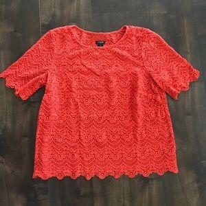Red orange Top